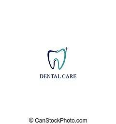 Dental Care Icon Logo Vector Template