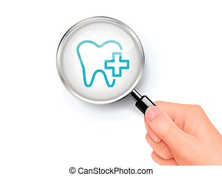 Dental care icon sign