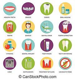 Dental Care Icons Set