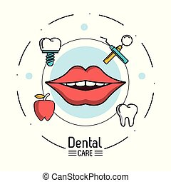 Dental care infographic icon vector illustration graphic...