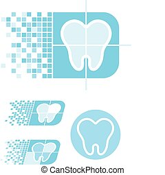 dental care logo - set of dental logotype in vector format ...