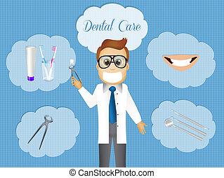 Dental care - illustration of dental care