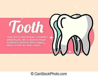 dental care tooth banner