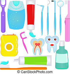 Dental care (Tooth) - Cute Vector : Dental care (Tooth)...