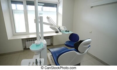Dental chair in clinic
