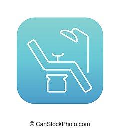 Dental chair line icon. - Dental chair line icon for web,...