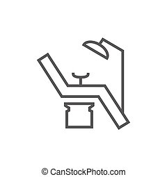 Dental chair line icon. - Dental chair thick line icon with...