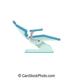 Dental chair, medical equipment vector Illustration isolated...