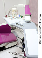 dental chair with equipment