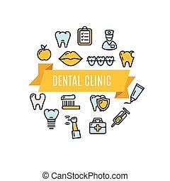 Dental Clinic Concept. Vector