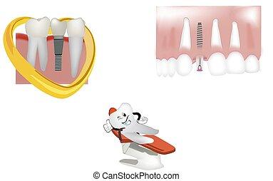 dental clinic dental prosthesis signboard