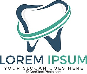 dental clinic dentist teeth care logo design tooth vector logo