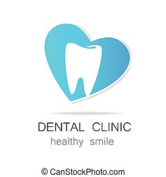dental clinic healthy smile logo template