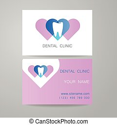 Dental clinic logo business card template dental clinic vector dental clinic logo business card template reheart Gallery