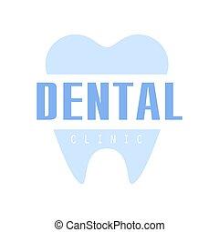 Dental clinic logo symbo, vector Illustration