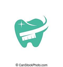 Dental Clinic Logo Tooth abstract design vector template