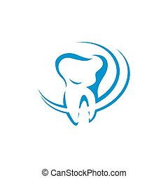 Dental Clinic Logo Tooth abstract design vector template Linear style. Dentist stomatology medical doctor Logotype concept icon