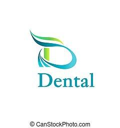 Dental clinic logo with dynamic elements.