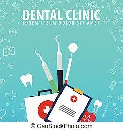 Dental clinic. Medical background. Health care. Vector medicine illustration.