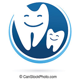 dental clinic vector icon - smile teeth - dental clinic...