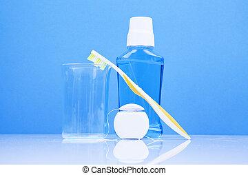 dental, conceito, higiene