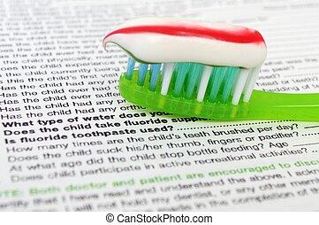 dental, conceito, saúde