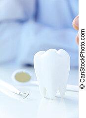 dental, concepto, higiene