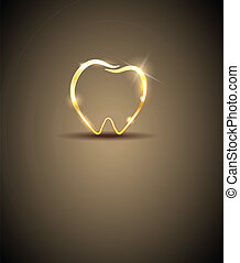 Dental design - Beautiful tooth illustration Luxury dental...
