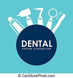 dental design  - dental care design , vector illustration