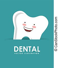 dental design  - dental graphic design , vector illustration