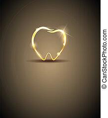 Dental design - Beautiful tooth illustration Luxury dental...