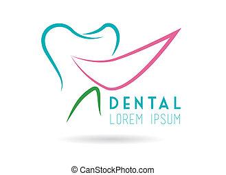 Dental design over white background, vector illustration