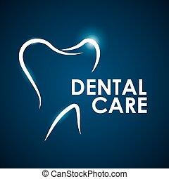 Dental design,vector illustration. - Dental design over blue...