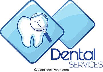 dental, diagnóstico, servicios, diseño