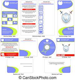 dental, diseño, plantilla, cuidado