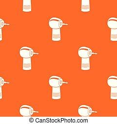 Dental drill pattern vector orange