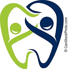 Dental Family Logo Design Template Vector
