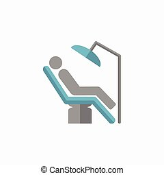 Dental Flat Icon - Dental. Medical Flat Icon. Vector...