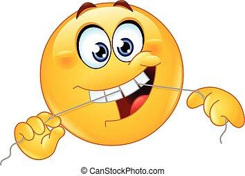 Dental floss emoticon