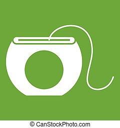 Dental floss icon green