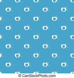 Dental floss pattern seamless blue