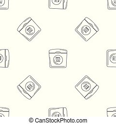 Dental floss pattern seamless vector