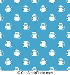 Dental floss pattern vector seamless blue