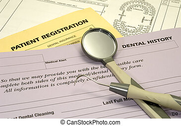 Dental Forms - Photo of Dental and Insurance Forms - Medical...