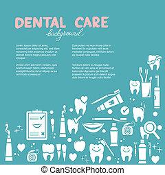 dental, fundo, cuidado