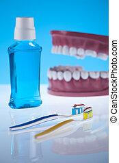 dental, gegenstände, gesundheitspflege