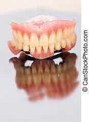 dental, höher, senken, prothese