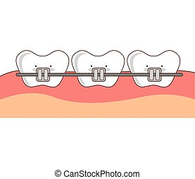 dental healthcare orthodontics icon vector isolated graphic
