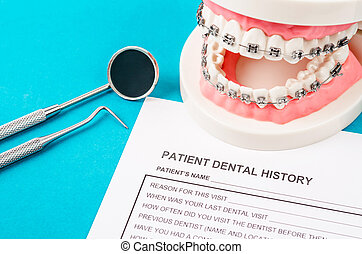 Dental health and teeth care concept.