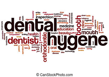 Dental hygene word cloud - Dental hygene concept word cloud...